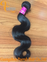 Clearance Big Sale Poersh Hair 16-22inch 7AA Virgin Hair High Quality 1B# Natural Color Body Wave 1Pc/Lot Human Hair Weft