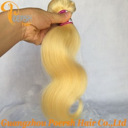 Poersh Hair Top Grade Unprocessed Raw Virgin Hair 613 Blonde Color Top Quality Body Wave 3Pcs/Lot Human Hair Weft