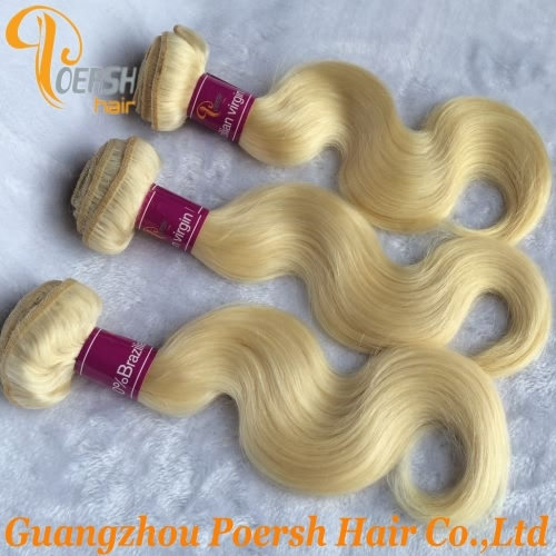 Poersh Hair 8A Unprocessed Raw Virgin Hair Top Quality 613# Blonde Color Body Wave 3Pcs/Lot Human Hair Weft