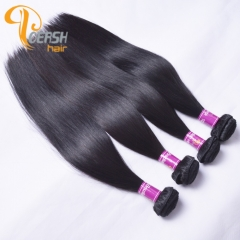 Poersh Hair Diamond Grade Uprocessed Raw Virgin Hair Top Quality 1B Natural Black Color Straight Hair 4Pcs/Lot Human Hair Weft