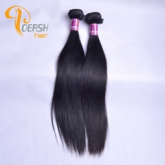 Poersh Hair Diamond Grade Unprocessed Raw Virgin Hair Top Quality 1B Natural Black Color Straight Hair 2Pcs/Lot Human Hair Weft