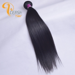 Poersh Hair Diamond Grade Unprocessed Raw Virgin Hair Top Quality 1B Natural Black Color Straight Hair 1Pc/Lot Human Hair Weft
