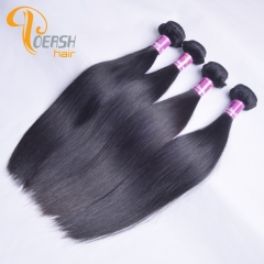 Poersh Hair 7A Virgin Remy Hair High Quality 1B Natural Black Color Straight Hair 4Pcs/Lot Human Hair Weft