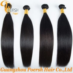 Clearance Big Sale Poersh Hair 18inch 6A Remy Hair 1B Natural Black Color Straight Hair 4Pcs/Lot Human Hair Weft