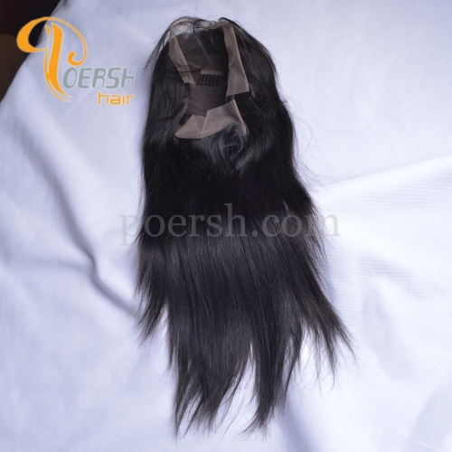 8A 1B Natural Black Color Straight Hair Unprocessed Raw Virgin Human Hair Lace Front Wig
