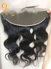 8A Top Quality 1B Natural Black Color Body Wave 100% Unprocessed Raw Virgin Human Hair 13×4 Lace Frontal