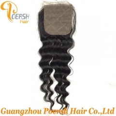 8A Top Quanlity 1B Natural Black Color Italy Curly 100% Unprocessed Raw Virgin Human Hair 4×4 Silk Base Closure