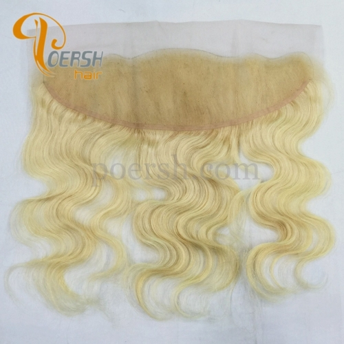 8A Top Quality 613 Blonde Color Body Wave 100% Unprocessed Raw Virgin Human Hair 13×4 Lace Frontal