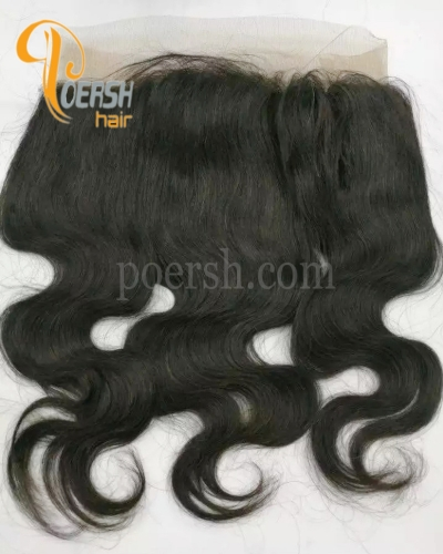 7A 1B Natural Black Color Body Wave 100% Human Hair 22×5×2.5 360 Lace Frontal
