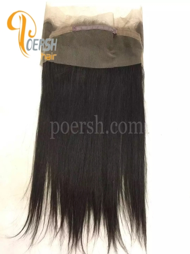 7A 1B Natural Black Color Straight Hair 100% Human Hair 22×5×2.5 360 Lace Frontal