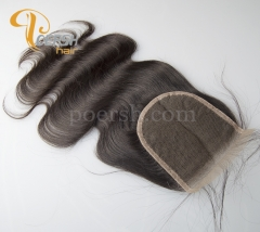 8A Top Quality 1B Natural Black Color Body Wave 100% Unprocessed Raw Virgin Human Hair Free Part 4×4 Lace Closure