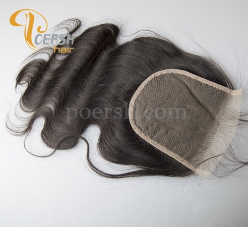 8A Top Quality 1B Natural Color Body Wave 100% Unprocessed Virgin Human Hair 5×5 Transparent Lace Closure